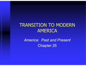 transition to modern america