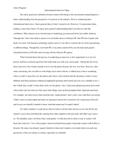 Alicia Wagoner Informational Interview Paper My career