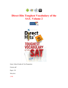 Direct Hits Toughest Vocabulary of the SAT Volume 2 book