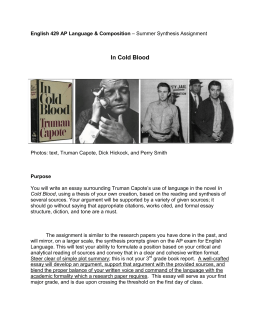 In cold blood character analysis essay