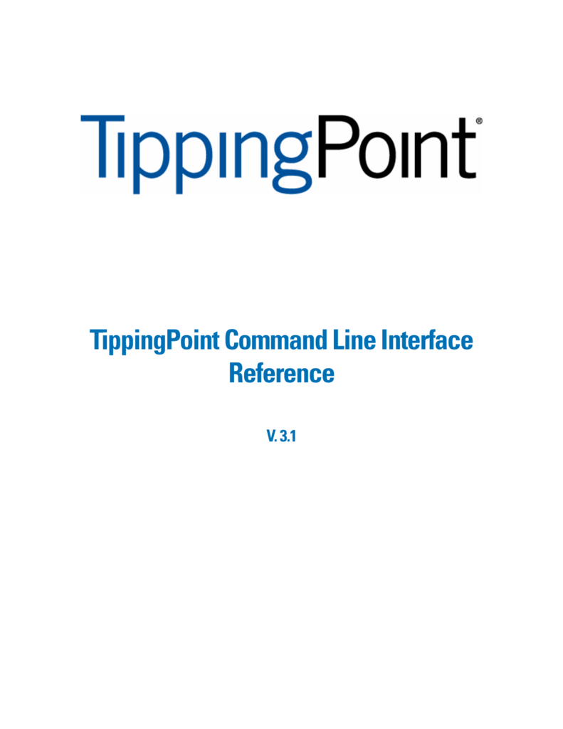 TippingPoint N-Series Command Line Interface Reference