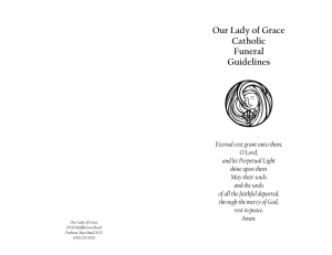 Funeral Guidelines - Our Lady of Grace Parish