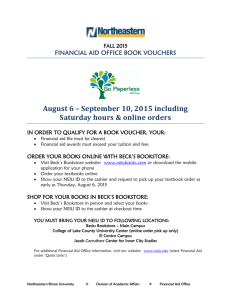 August 6 – September 10, 2015 including Saturday hours & online
