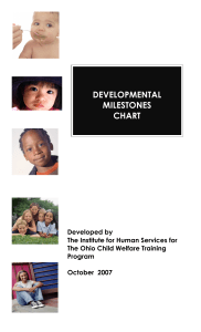 Child Development — A Developmental Milestones Chart