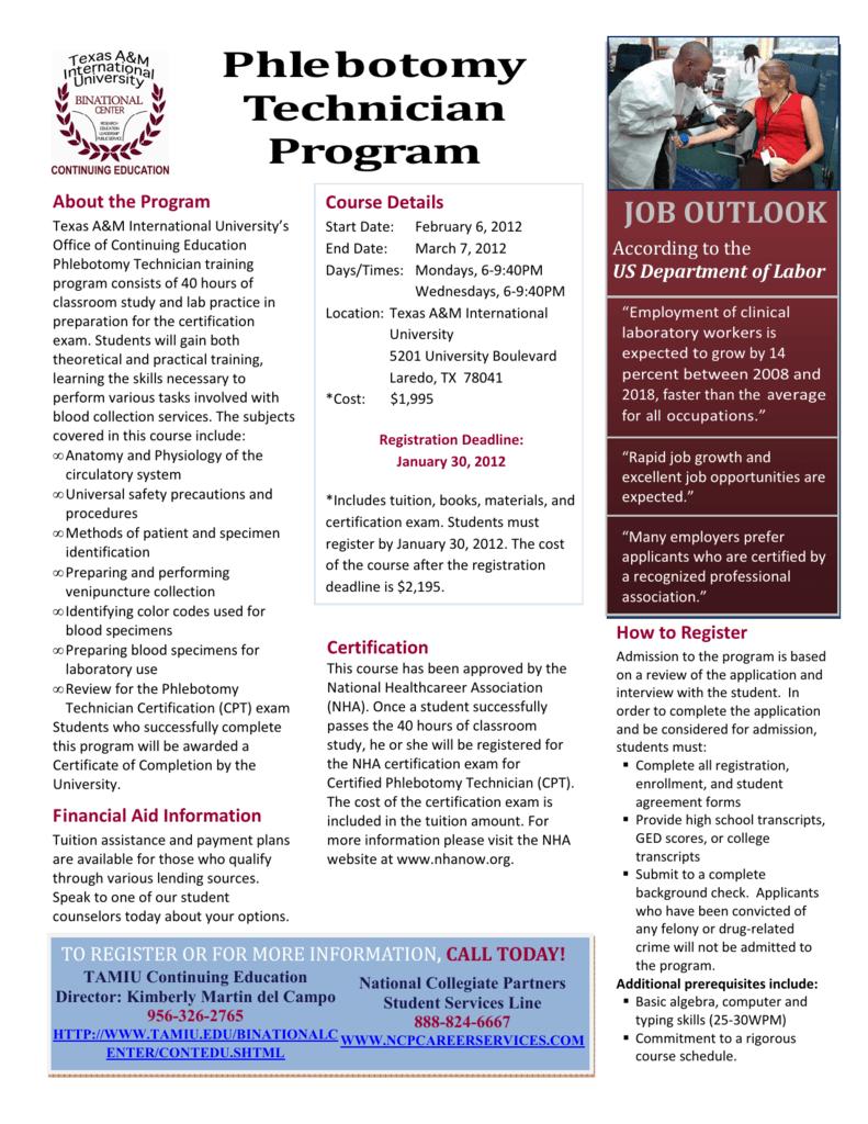 texas phlebotomy technician program university international