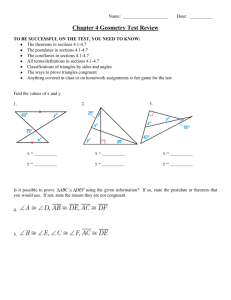 Chapter 4 Geometry Test Review