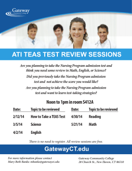 ati teas test review sessions