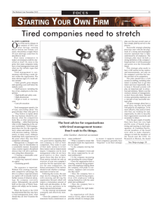 Tired companies need to stretch