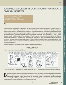 Tolerance as Civility in Contemporary Workplace Diversity Initiatives