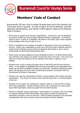 Members' Code of Conduct - Bournemouth Council for Voluntary