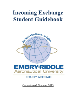 Incoming Exchange Student Guidebook - Embry