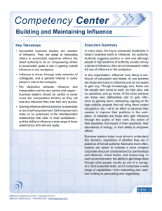 Building and Maintaining Influence
