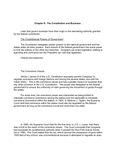 Chapter 6– The Constitution and Business Laws that govern