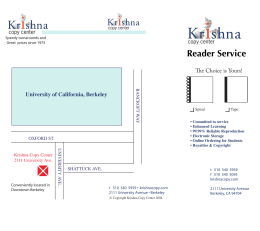 Reader Service - Krishna Copy Center