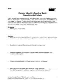 chapter 19 active reading guide rh studylib net AP Biology Reading Guide Answers Adaptation Biology