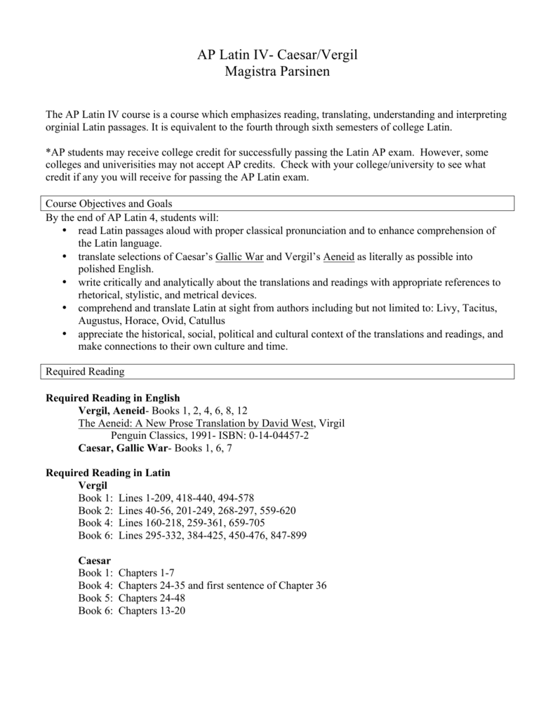 ap latin essay questions vergil Ap® latin 0590-1: caesar/vergil fall 2014- spring 2015 the ap latin course is designed to give students the which provide copious ap practice questions.
