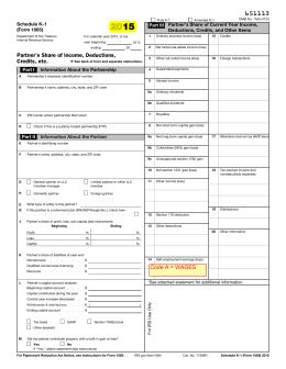 2012 Form 1065 (Schedule K-1)