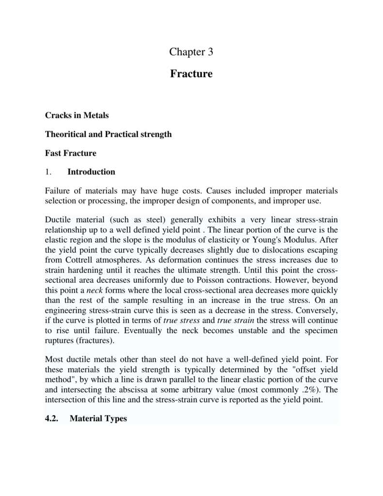 Chapter 3 Fracture Two Typical Looks Of Ductile Stress Strain Diagrams