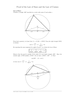 Proof of the Law of Sines and the Law of Cosines