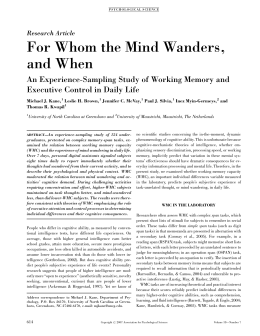 For Whom the Mind Wanders, and When