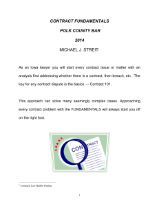 Bar Review Lecture - Polk County Bar Association