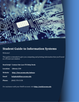 Student Guide to Information Systems