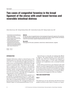 Two cases of congenital foramina in the broad ligament of the uterus
