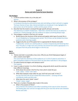romeo and juliet essay questions grade 9