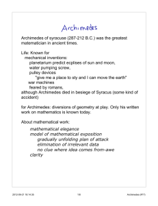 Archimedes and