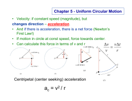 uniform circular motion report