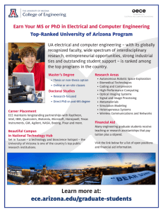 Top-Ranked University of Arizona Program