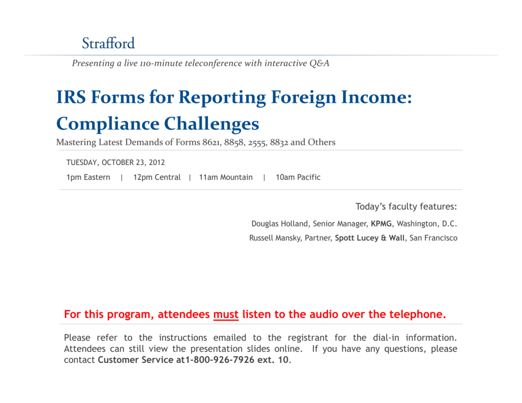 IRS Reporting Foreign Income: Challenges