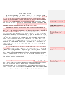 High School Narrative Essay Literary Analysis Exemplar  The Syracuse City School District Essay Health also The Thesis Statement In A Research Essay Should Eleven By Sandra Cisneros Sample Of Synthesis Essay