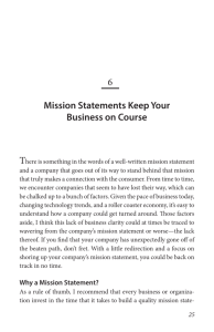 6 Mission Statements Keep Your Business on Course