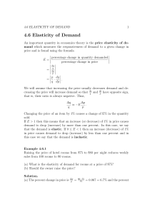 4.6 Elasticity of Demand