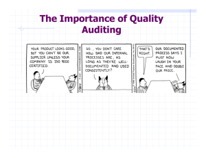 The Importance of Quality Auditing