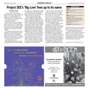 Project SEE's 'Big Love' lives up to its name
