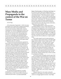 Mass Media and Propaganda in the context of the War on Terror