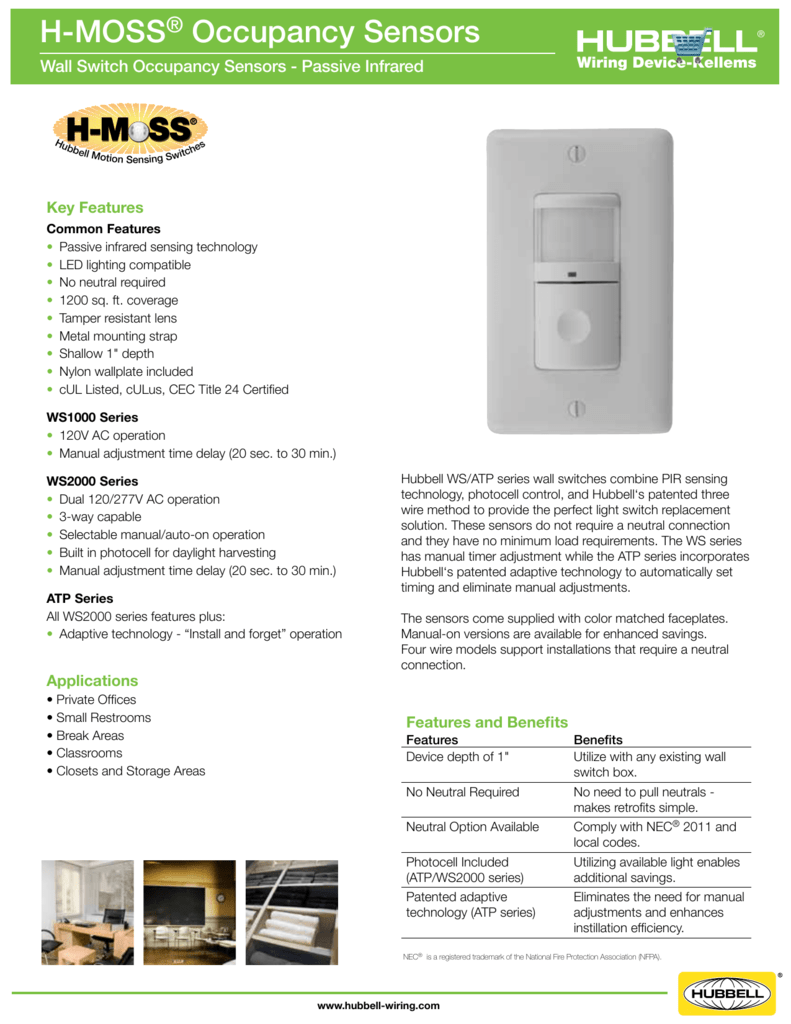 Hubbell Occupancy Sensor Wiring Diagram - Wiring Solutions