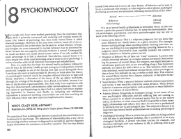 psychopathology - HallquistCPHS.com
