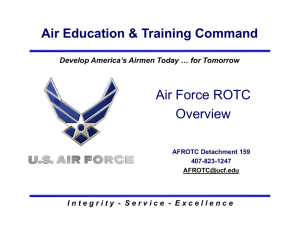 Air Force ROTC Overview