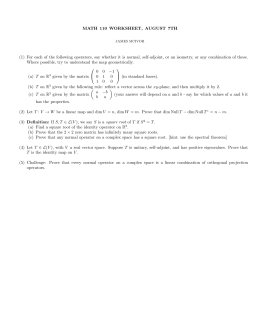 MATH 110 WORKSHEET, AUGUST 7TH (1) For each of the