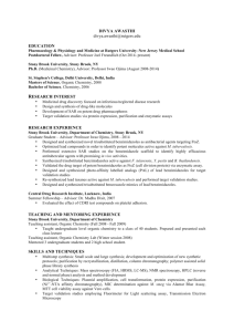 Dr. Divya Awasthi's CV - New Jersey Medical School