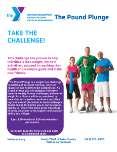 TAKE THE CHALLENGE! The Pound Plunge