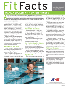 MAkE A sPlAsh WITh WATER FITNEss