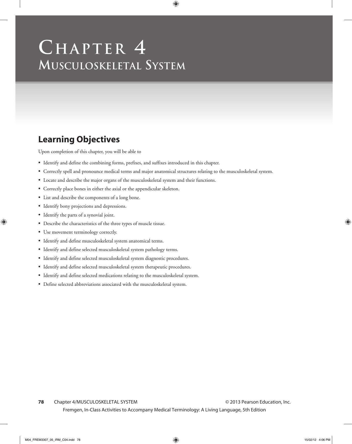worksheet The Language Of Anatomy Worksheet Answers chapter 4 human anatomy