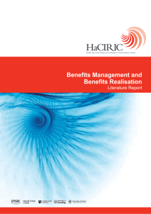 Benefits Management and Benefits Realisation - BeReal