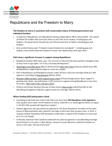 Republicans and the Freedom to Marry