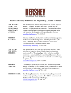Hershey and Its Neighboring Attractions Fact Sheet