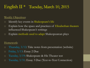 Shakespeare and His Theater